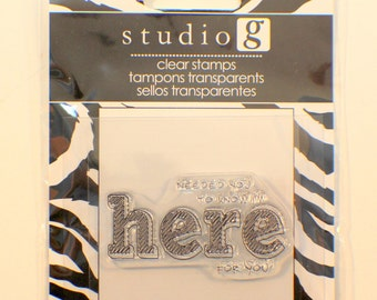 Studio G Needed You to Know I'm Here for You Cling Clear Rubber Stamp