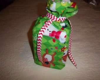 Lime Green Christmas Tissue Box Cover