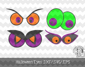 Halloween-Eyes.DXF/.SVG/.EPS Files for use with your Silhouette Studio Software