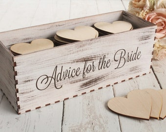 Advice For The Bride Box Rustic Bridal Shower