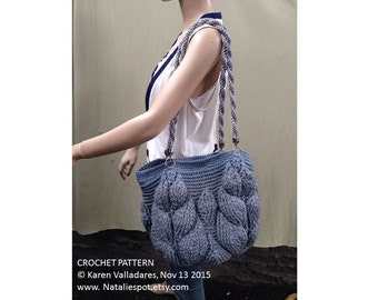 INSTANT DOWNLOAD Branches of Leaves Bag– Crochet Pattern