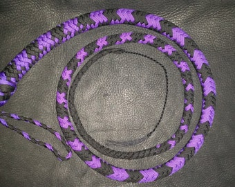 4Ft Black and Custom Color Signal Whip