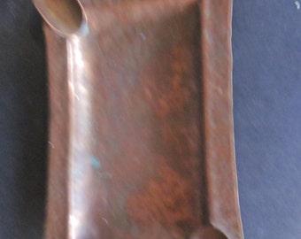 hammered copper ashtray.  copper ashtray. ashtrays