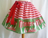 Christmas, Holiday Skirt By Rooby Lane