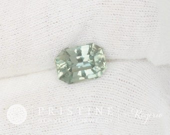 Blue Green Sapphire Radiant Cut 3.85 Cts Color Change Gemstone
