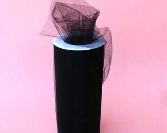 Black tulle roll 6 inch x 75 ft (25 yards)