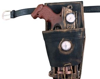 Steampunk TOY gun Nerf Maverick soft dart toy Holster-belt Cyber gothis cospla Vampire Zombie Man