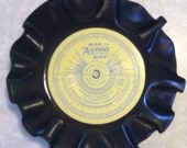 Vintage Upcycled Record Bowl Ashtray Man or Astro Man?