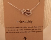 Anchor Necklace: Silver Anchor Charm Necklace, Anchor Jewelry, Nautical Necklace, Sailing, Wish Necklace, Best Friend Necklace