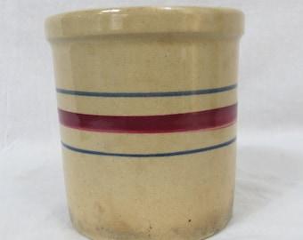 One Quart Striped Crock Robinson Ransbottom Crock Roseville Ohio  Box FF