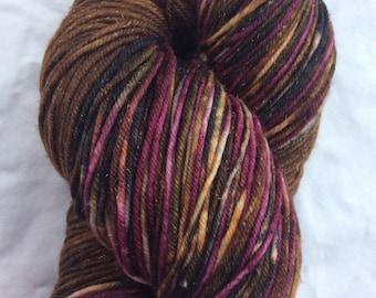 New lines - ColorPlay & Yarn Pairings, Hand-dyed Hand-Painted, Brown, Black, Burgundy, 70/25/5 SW Merino Silk Stellina, 462 total yds, DK