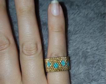 Peyote Stitch Beaded Ring
