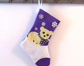 Polar Bear Personalized Christmas Stocking by Allenbrite Studio
