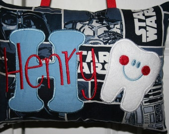 Tooth Fairy Pillow - Star Wars Themed- Christmas Gift - Birthday Gift - Valentine's - Easter