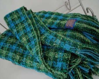 PENDLETON Woven Wool Throw Blanket Turquoise Green