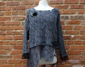 Boho Sweater,Shabby Chic Sweater,Eco Sweater,Upcycled Sweater,by Nine Muses Of Crete