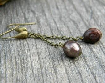 Minimalist earrings simple pearl drop earrings beaded dangle earrings minimal pearl jewelry simple classic beaded jewelry