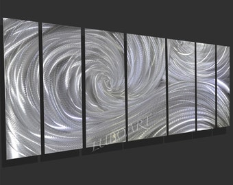 """Art Metal 66"""" wall sculpture multi panel office home decor Video 3D Halogen LED RGB colour light reflect modern hand made - Lubo Naydenov"""