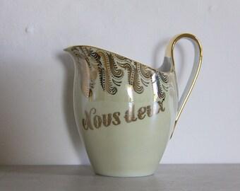 Beautiful Vintage French  Porcelain Nous Deux Marriage Couples Jug