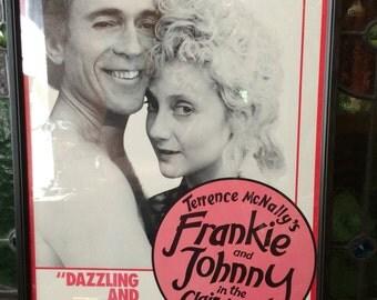 Theater Poster Broadway New York Frankie & Johnny Framed
