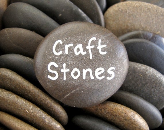 Craft stones flat rocks beach stone supplies wish by for Flat stones for crafts