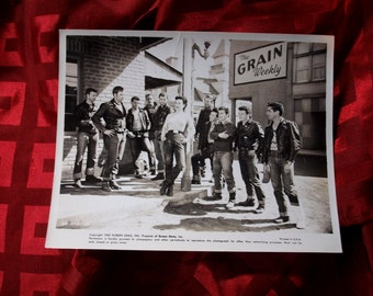 The Wild One Photo 1963 Marlon Brando 8x10 Glossy Still Screen Gems Pictures Triumph Motorcycle Gang Members with woman