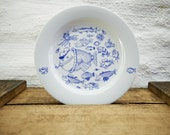 SCHIFFER PLATE FISH - porcelain plate by Ahoi Marie - nautical - maritime style - blue and white - navy blue