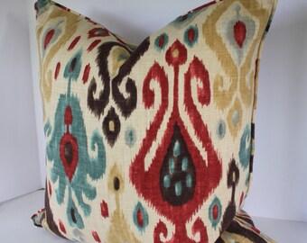 Django Persia Ikat Decorative Pillow Cover  with Piping