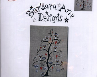 Barbara Ana Designs: Lemurtine Tree - Cross Stitch Pattern