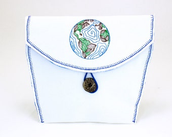 Earth Embroidery Bicycle Handlebar Bag