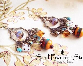 103•BOHO Series Earrings•Multicolored Earrings•Boho Earrings•Dangle Earrings•Chandelier Earrings