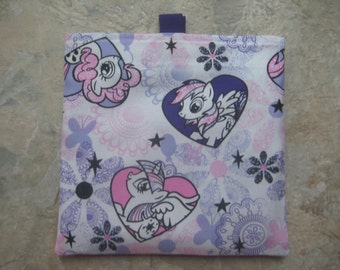 My Little Pony - Reusable Sandwich Bag, Reusable Snack Bag with easy open tabs