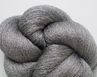 Steel Silk Recycled Lace Weight Yarn, 2786 Yards Available in 2 Skeins of Different Lengths