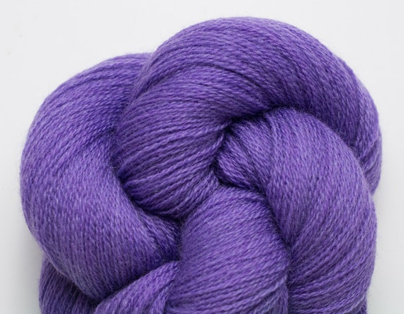 Iris Heather Recycled Merino Lace Weight Yarn Purple