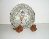 Coiled Fabric Basket, Bird Bowl, Birdhouse, Springtime, Kitchen Decor, Home Decor, Bread Basket, Candy Dish, Decorative Bowl, Cottage Chic