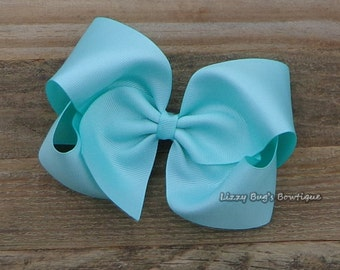 XL Boutique Hair Bow~Aqua Boutique Bow~Boutique Hairbow~M2M Matilda Jane~XL Boutique Hair Bow~Basic Hair Bow~Boutique Hair Bow~Hair Bows