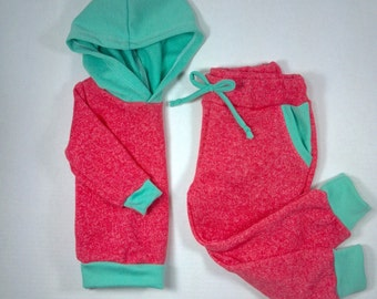 Coral & Mint Jogger Pants - Children Sizes
