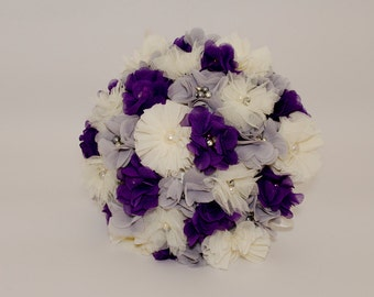 Bridemaid Fabric Bouquet with Satin Handle