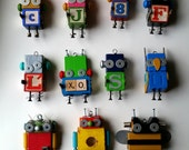 RESERVED for Judy - CUSTOM ORDER - Robot Ornaments by Jen Hardwick