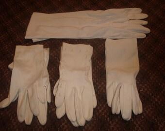 lot 4 vintage ladies hand gloves cotton