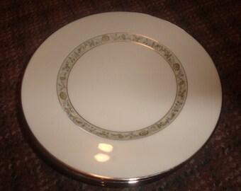 5 vintage lenox china springdale salad plates usa platinum