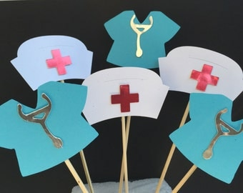 NURSES CUPCAKE TOPPER theme