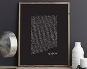 PRINTABLE Valentines Day Gift. Wedding Vows Keepsake Print for Newlyweds & Anniversaries - Script