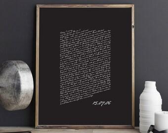 PRINTABLE Wedding Vows Keepsake Print for Newlyweds & Anniversaries - Script