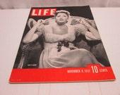 Life Magazine November 1937, Greta Garbo, white trucks, ever sharp pens, vintage advertising