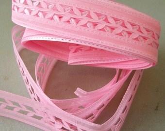 "Pink 3D Die Cut Ribbon Trim-1/2""-3 YDS"