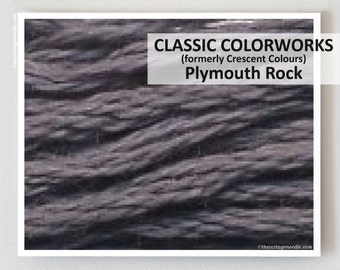 PLYMOUTH ROCK  : Classic Colorworks hand-dyed embroidery floss cross stitch thread at thecottageneedle.com