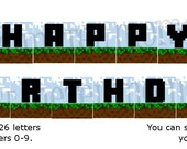 Pixel World Party - Printable Alphabet Banner