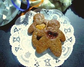 Cocoa Gingerbread Men Cookies, Have a Heart Gingermen -1 dozen Chocolate Gingerbread Men for the holidays or any day