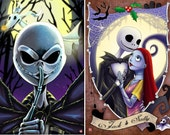 "11x17"" Nightmare Before Christmas (2 DIFFERENT prints- INDIVIDUALLY or as a SET)"
